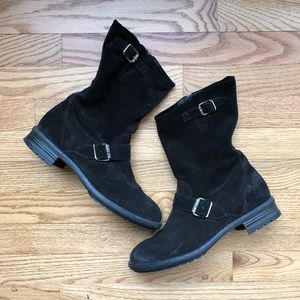 Paul Green Suede Motorcycle Boots 6/8.5